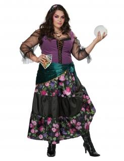 Wahrsagerin-Kostüm Karneval-Kostüm in Übergrösse bunt