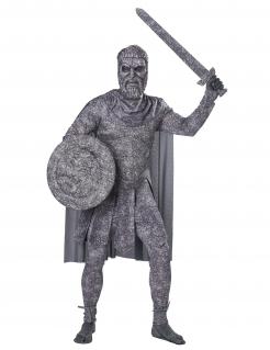 Versteinerter Krieger-Herrenkostüm Faschingskostüm grau