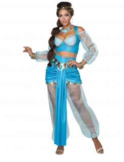 Orientalische Prinzessin-Kostüm Sexy-Prinzessin-Kostüm türkis-golden