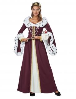 Königin-Kostüm Damen Karneval-Kostüm rot-gold-weiss