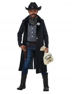Sheriff-Kostüm für Kinder Cowboy-Kostüm dunkelblau