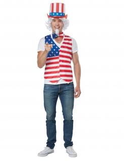 Amerika-Verkleidung Karnevals-Kostüm rot-weiss-blau