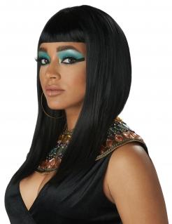 Ägyptische Perücke mit Pony für Damen schwarz