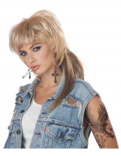 Vokuhila-Perücke für Damen blond