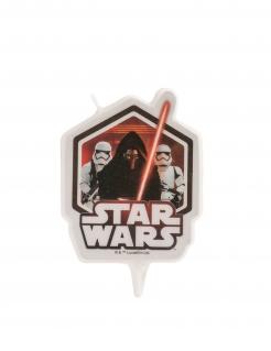 Star Wars™-Geburtstagskerze schwarz-rot-weiß 8 cm