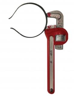 Schraubschlüssel-Haarreif Accessoire für Halloween grau-rot