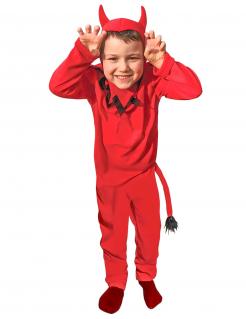 Teufel-Kostüm für Kinder Halloween-Kostüm rot