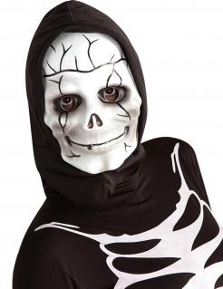 Kinder-Skelettmaske weiss-schwarz