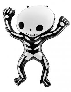 Skelett-Luftballon Halloween-Deko schwarz-weiss 84x10 cm