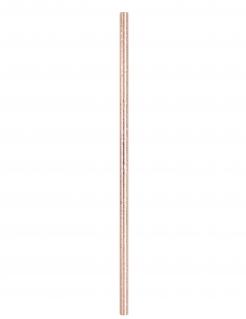 Papp-Strohhalme Geburtstags-Deko 10 Stück rosé-gold 21 cm