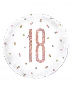 18er-Geburtstag Aluminiumballon bunt 45 cm