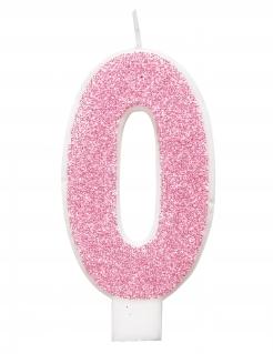 Geburtstagskerze Zahlen-Kerzen verschiedene Ausführungen wählbar rosa-weiss 7cm