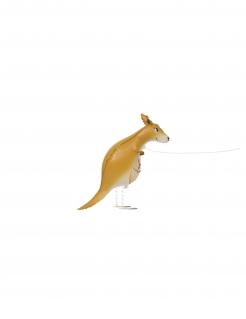 Känguru-Luftballon Kindergeburtstagsdeko braun 101 cm