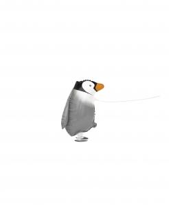 Laufender Pinguin-Ballon Kindergeburtstag-Deko grau-schwarz-weiss 48 cm