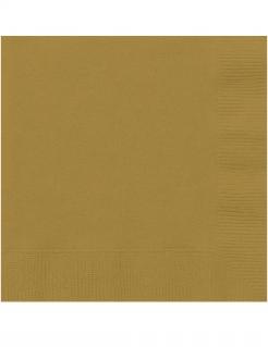 Servietten aus Papier Partydeko 20 Stück goldfarben 25 x 25cm