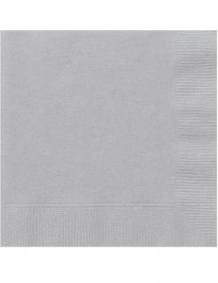 Papierservietten Partyzubehör 20 Stück grau 25 x 25 cm