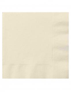 Papier-Servietten klein Weihnachten Deko 20 Stück elfenbeinfarben 25x25 cm