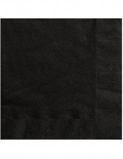 Papierservietten Halloween-Zubehör schwarz 25 x 25 cm