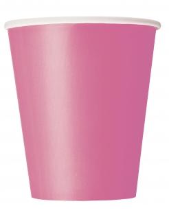 Pappbecher Einwegbecher 8 Stück rosa 266ml