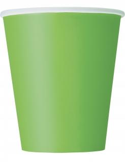 Pappbecher Partybecher 8 Stück grün 266 ml