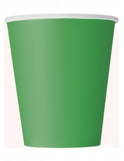 Pappbecher Partyzubehör 8 Stück grün 266 ml