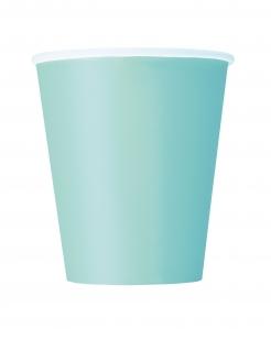 Pappbecher Partybecher 8 Stück mintgrün 266 ml