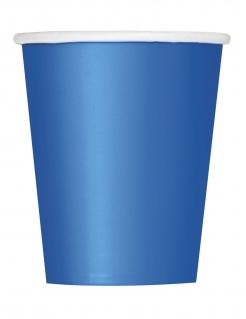 Pappbecher Partybecher 8 Stück blau 266 ml