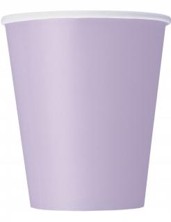 Partybecher Tischdeko 8 Stück lavendelfarben 266 ml