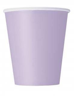 Pappbecher Partybecher 14 Stück lavendellfarben 266 ml