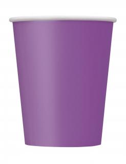 Pappbecher Partyzubehör 8 Stück lila 266 ml