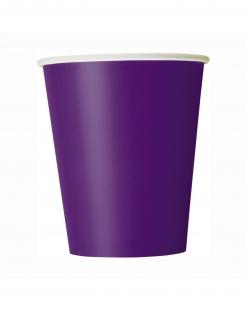 Pappbecher Halloween-Zubehör 8 Stück lila 266 ml