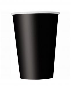 Pappbecher Halloween-Zubehör 14 Stück schwarz 266 ml