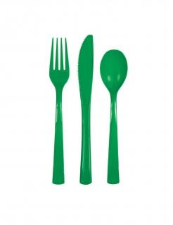 Einweg-Besteck 18-teilig Partydeko dunkelgrün