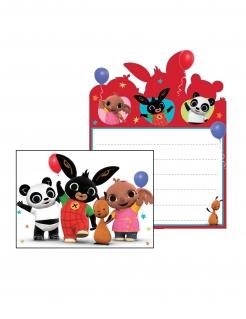 Bing™-Einladungen für Kinder 8 Stück bunt 16 x 11 cm