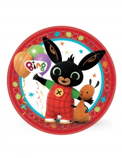 Bing™-Partyteller Tischdeko für Kinder 8 Stück bunt 23 cm