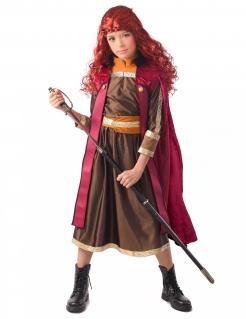 Nordische Prinzessin-Kostüm Wikingerkostümrot-braun-orange