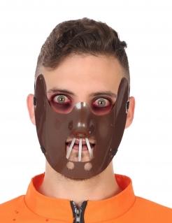 Kannibalen-Maske Horror-Maske braun