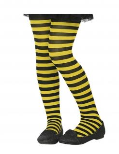 Kinder-Strumpfhose gestreift Accessoire schwarz-gelb