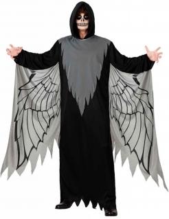 Todesengel-Kostüm für Herren Halloween-Kostüm schwarz-grau