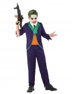 Verrücktes Harlekin-Kostüm für Jungen Halloweenkostüm lila