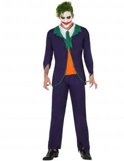 Verrückter Clown Superschurken-Kostüm lila