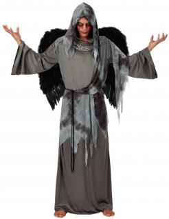 Todesengel-Kostüm für Herren Gefallener Engel Kostüm grau