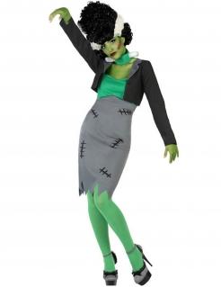 Erschaffenes Monster Damenkostüm Halloweenkostüm grau-grün