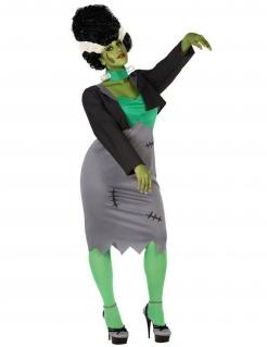 Künstliches Monster-Kostüm für Damen Halloween-Kostüm für große Größen grau-grün