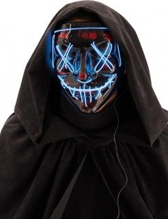 LED-Maske Horror-Maske Mord-Nacht Halloween schwarz-grün