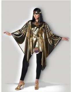 Cleopatra-Kostüm für Damen Faschingskostüm gold-schwarz