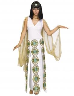 Kleopatra-Kostüm Ägyptisches Kostüm weiss-gold-türkis