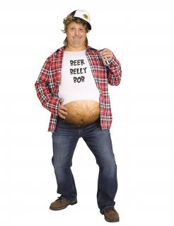 Bierbauch-Kostüm für Herren Faschingskostüm weiss-rot