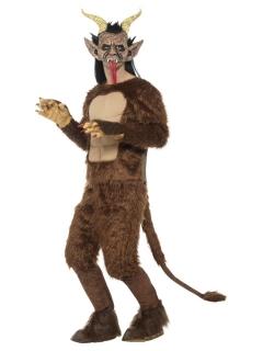 Faun-Kostüm für Herren Halloween-Kostüm braun