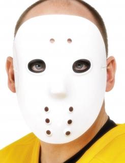 Hockey-Maske Halloween-Maske weiss